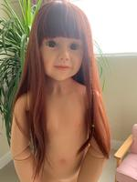 110CM Hard vinyl reborn toddler girl doll toy Masterpiece like real baby 3 years clothing photo model BJD silicone doll reborn