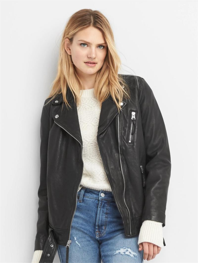 To London 498 USD Oversize Oversized Genuine Leather Clothes Boyfriend Fan Car Cable-Stayed Women Genuine Leather Jacket