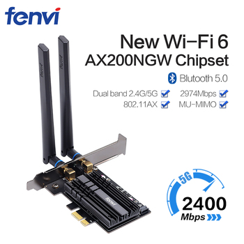 Dual band 3000Mbps Wifi 6 Intel AX200 PCIe Wireless Wifi Adapter 2.4G/5Ghz 802.11ac/ax Bluetooth 5.0 AX200NGW Wi-fi Card For PC