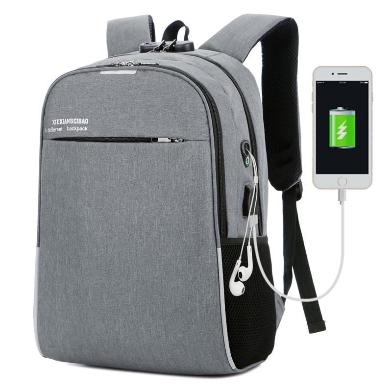 Waterproof 15.6 Laptop Backpack Men Women Casual Bags Male Business Travel Bag Boys Trend Girls SchoolBag Package With USB