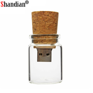 Image 4 - SHANDIAN 100%  new arrival messenger bottle usb memory glass drift bottle usb flash drives srong packing gift Free custom logo