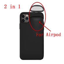 2 in 1 Case For AirPods For iPhone 11 Case For iPhone 7 Plus /8 Plus/X/ XS Max/ 11 Pro Max Case Protector Protective Shell 19Oct(China)