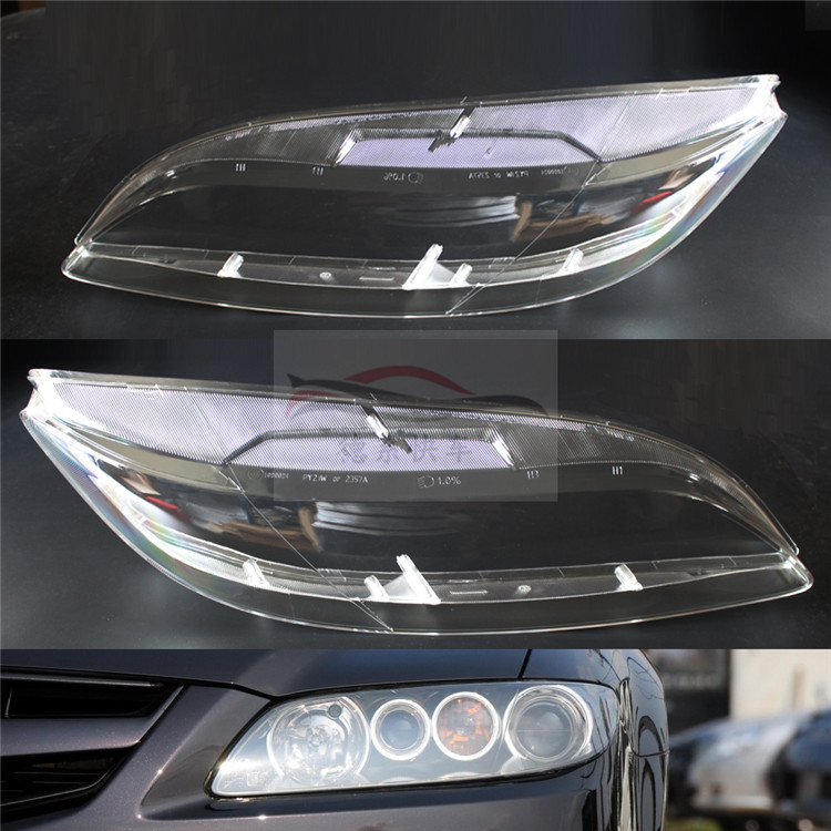 Pièces d'auto pour Mazda 6 03-07 couvercle de phare masque phare logement phare couvercle de phare en verre 2pcs