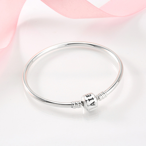 Image 3 - New arrival 100% 925 Sterling Silver Charming Bracelets Charms 2018 Fashion L woman Bracelet Bangles Luxury Jewelry