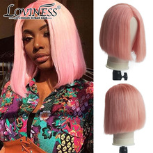 Wigs for Human-Hair Lace-Frontal Transparent Glueless Straight Wig-Bone Remy Women