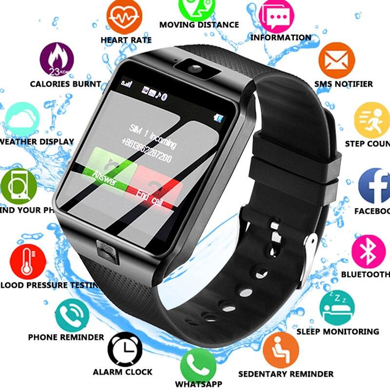 Homens Relógio Do Esporte Do Bluetooth inteligente Relógios Das Senhoras Das Mulheres Rel gio Smartwatch com Slot Para Cartão Sim Câmera Android Phone GT08 смарт часы