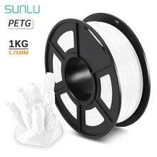 Sunlu Petg 3D Printer Filament 1.75/3.0Mm 1Kg/2.2LBS Spool Petg 100% Virgin Materiaal In Transparante witte Kleur Verbruiksartikelen