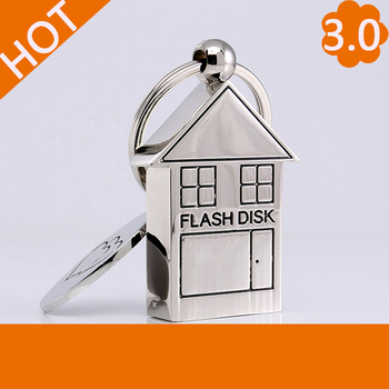 Creativo Metal Lovely House Style 64GB 8GB 16GB 32GB USB Flash Drive 3.0 Stick Car Pen Drive 1TB 2TB Birthday Gift Pendrive Key