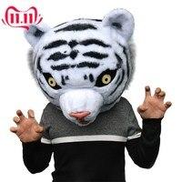 Halloween Net Red Tiger Cartoon Doll Tiger Doll Head Set Activity Walking Leaflet Cute Tiger Mask Mascot Costume
