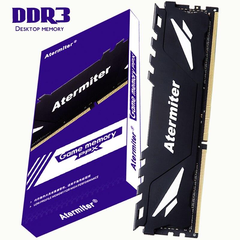 Atermiter PC Memory RAM Memoria Module Computer Desktop DDR3 2GB 4GB 8GB PC3 1333MHZ 1600MHZ 1866MHZ 10600 12800 2G 4G 8G RAM 1