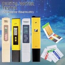 Pen Type PH Meter Portable PH Water Quality Tester Acidometer for Aquarium Acidimeter Water PH Acidity Meter 0-14PH /0-9990 PPM
