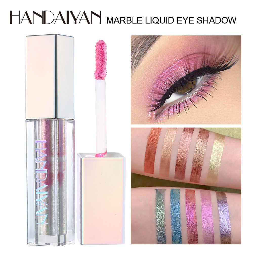10 colori di Marmo a Grana Liquido Ombretto Eyeshadow Magia Shimmer Evidenziare Eyeshadow gel Naturale In Metallo Impermeabile Flash Ombretto CreamTSLM2