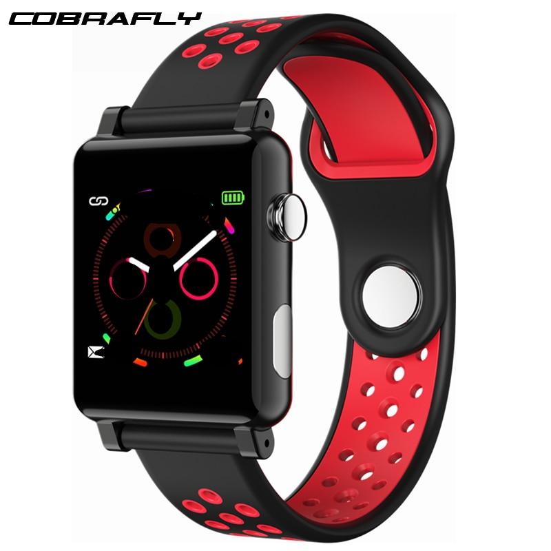 Cobrafly ECG PPG montre intelligente mesure de la pression artérielle moniteur de fréquence cardiaque Tracker de Fitness montres intelligentes pour Apple xiaomi PK N58