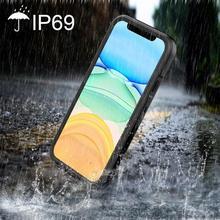 מלא אטום עמיד למים עמיד הלם Dirtproof מגע מזהה צלילה מתחת למים מט מקרה עבור iphone 11 פרו X 8 7 6 6s בתוספת כיסוי אופן בסיסי