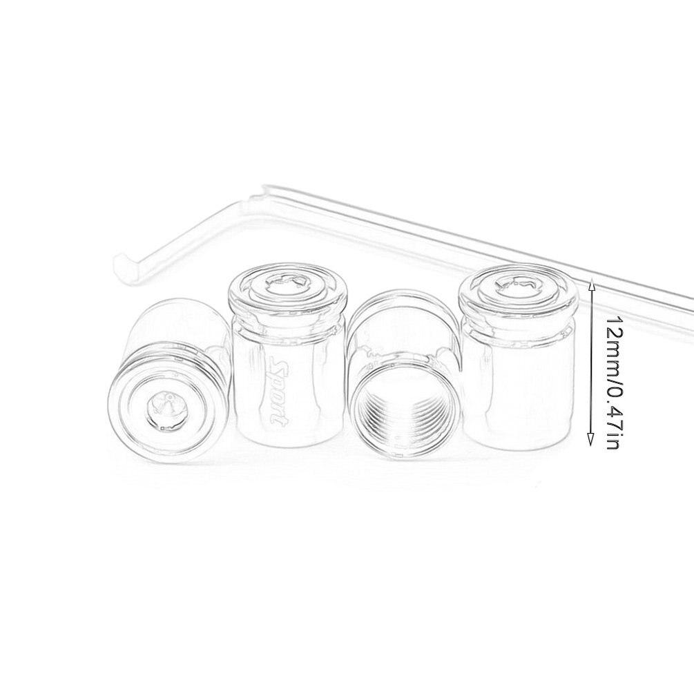 Grebest Tire Valve Cap External Modified Valve Cap 4Pcs Car Vehicle Wheel Tire Air Valve Stem Anti-Dust Seal Cap Cover Decoration