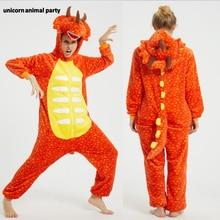 Kigurumi Onesies Men women Cosplay orange triceratops dragon halloween Christmas Party Pajamas Pyjamas costumes carnival costume pink unicorn cartoon animal onesies pajamas costume cosplay pyjamas adult onesies party dress halloween pijamas
