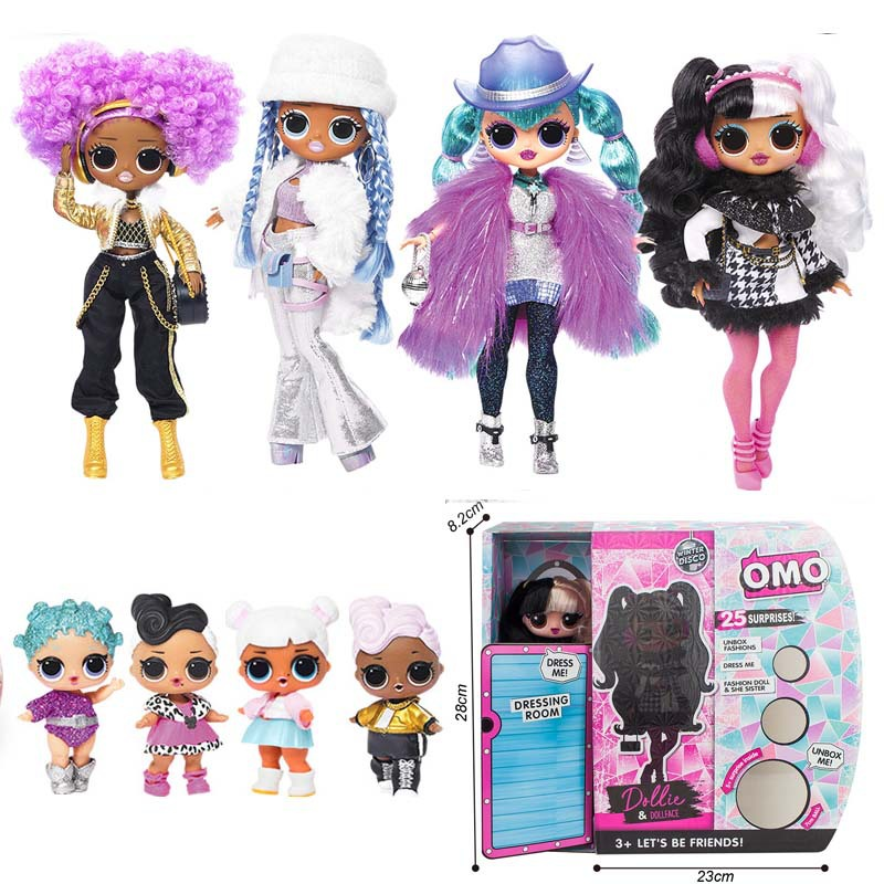 New OMG Doll Sweet Treat Toys Hobbies 28cm Sisters Dolls Surprise Fashion Accessories  With Scented Doll