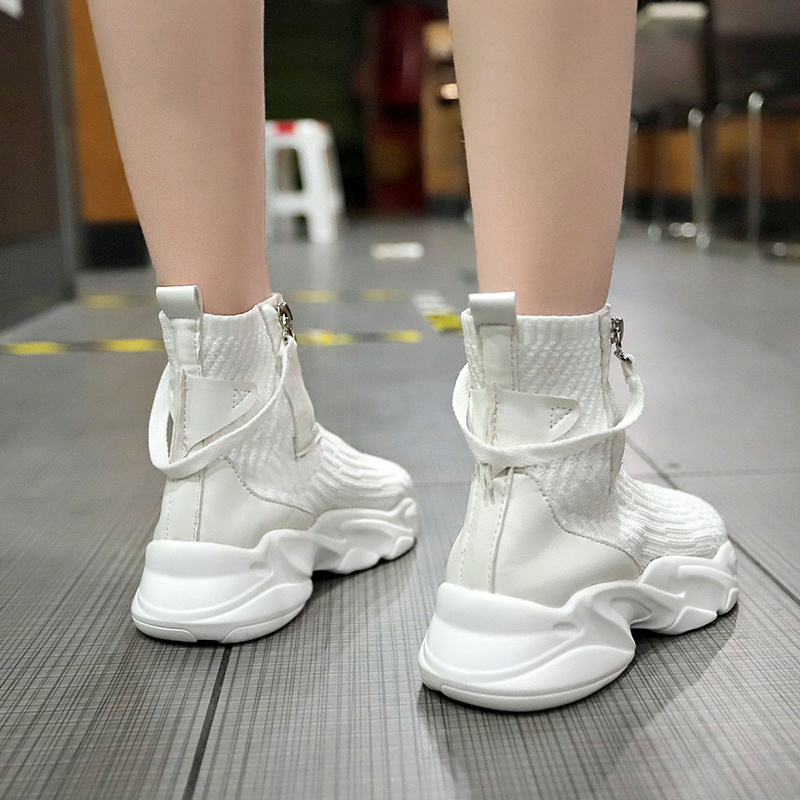 Tleni Socks shoes high to help sports shoes women 2019 spring and autumn new hip hop running shoes women walking shoes ZW-150