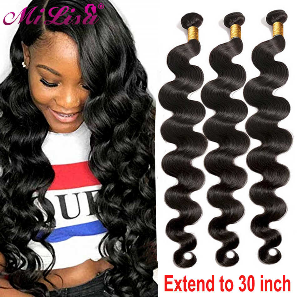 10- 30 Inch Malaysian Body Wave Bundle 100% Human Hair Weave Bundles 1 PC Remy Hair Extensions Natural Full & Thick 3 Bundles