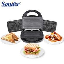 3 In 1 Elektrische Waffeln Maker Sandwich Maker Maschine Blase Ei Kuchen Ofen Frühstück Waffel Maschine Küchengeräte Sonifer
