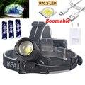 XHP70.2 светодиодный налобный фонарь 30 Вт самый мощный 6000 люмен белый фонарь для охоты кемпинга масштабируемый фонарь как Powerbank + 3*18650 + зарядное...