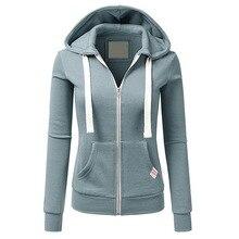 купить Fashion New Hoodies Women Sweatshirt Long Sleeve Winter Zipper Sweatshirt Casual Hooded Female Casual Pullover Pocket Tracksuits дешево
