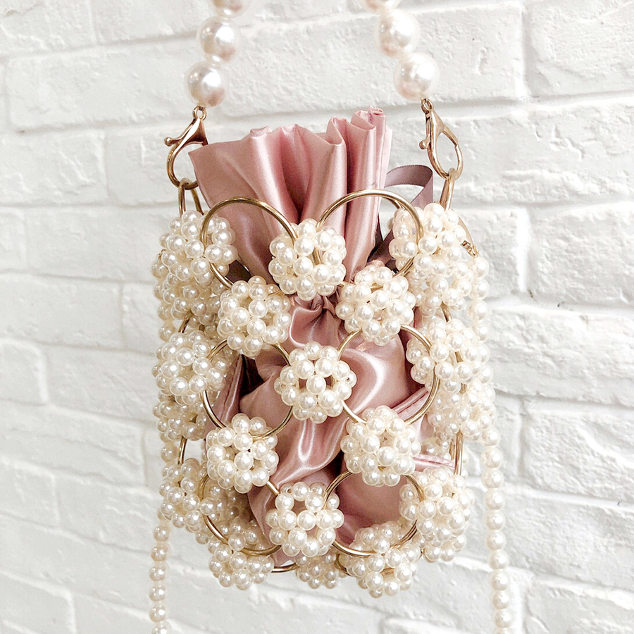 Luxury Hollow Out Pearl Bags