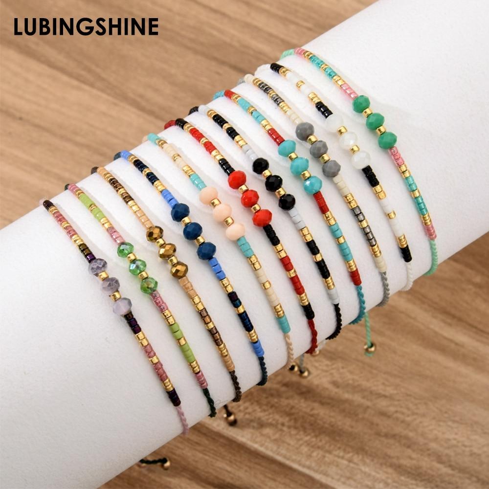 Handmade Seed Beads adjustable Bracelet