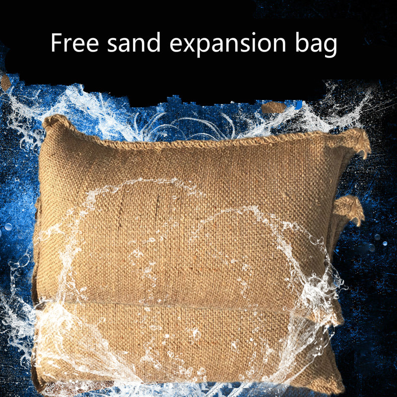 Water-absorbing Expansion Bag With Sandbag For Flood Control Property Canvas Self-absorbing Hemp Bag For Flood Control Expansion