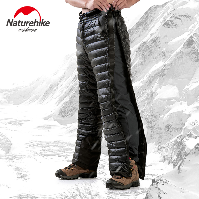 Naturehike Outdoor White Goose Down Pants Camping Climbing Water Resistant Warm Winter Trousers For Men Women