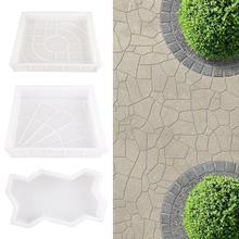 Garden Pavement Molds Plastic Walking Pavement Concrete Mould DIY Manually Pavin