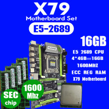 Plexhd X79 Turbo Papan Utama LGA2011 ATX Combo E5 2689 CPU 4 Pcs X 4GB = 16GB DDR3 Ram 1600 MHz PC3 12800R Pci-e NVME M.2 SSD(China)