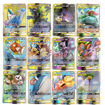 10-324pcs GX MEGA Shining TAKARA TOMY Pokemon Cards Game Battle Carte 100pcs Trading Cards Game Children Toy 2