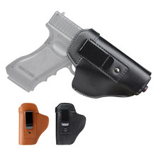 De cuero Universal faja para Arma Oculta funda IWB funda para pistola Glock 17 19 22 23 43 Sig Sauer P226 P229 Ruger Beretta 92 M92 s & w