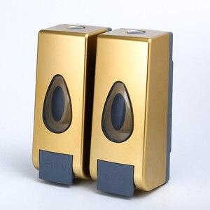 Диспенсер для мыла настенный диспенсер для шампуня моющее средство гель для душа золото 350 мл * 2 пластиковые аксессуары для ванной комнаты д...