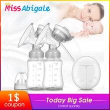 MissAbigale Real Bubee двойные электрические молокоотсосы мощный молокоотсос для кормления грудью USB Электрический молокоотсос бутылочка для молока