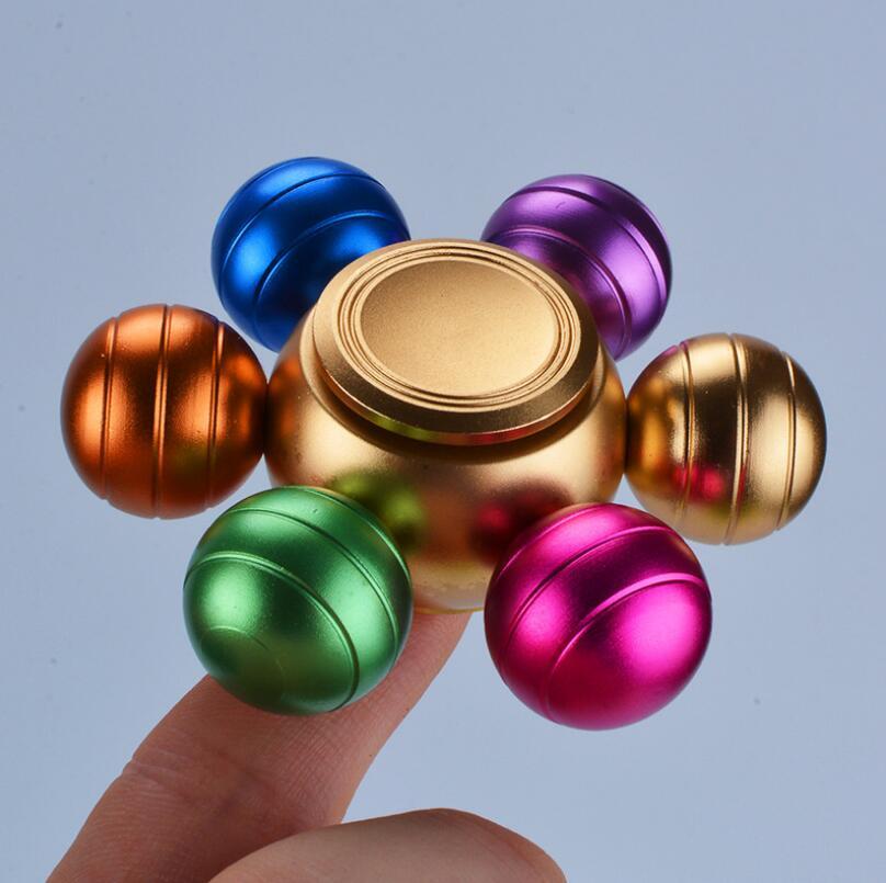 Removable Rainbow Six Dragon Ball Fidget Hand Spinner Fingertip Gyro Finger Spinner EDC Relieve  Autism Stress Finger Gyro