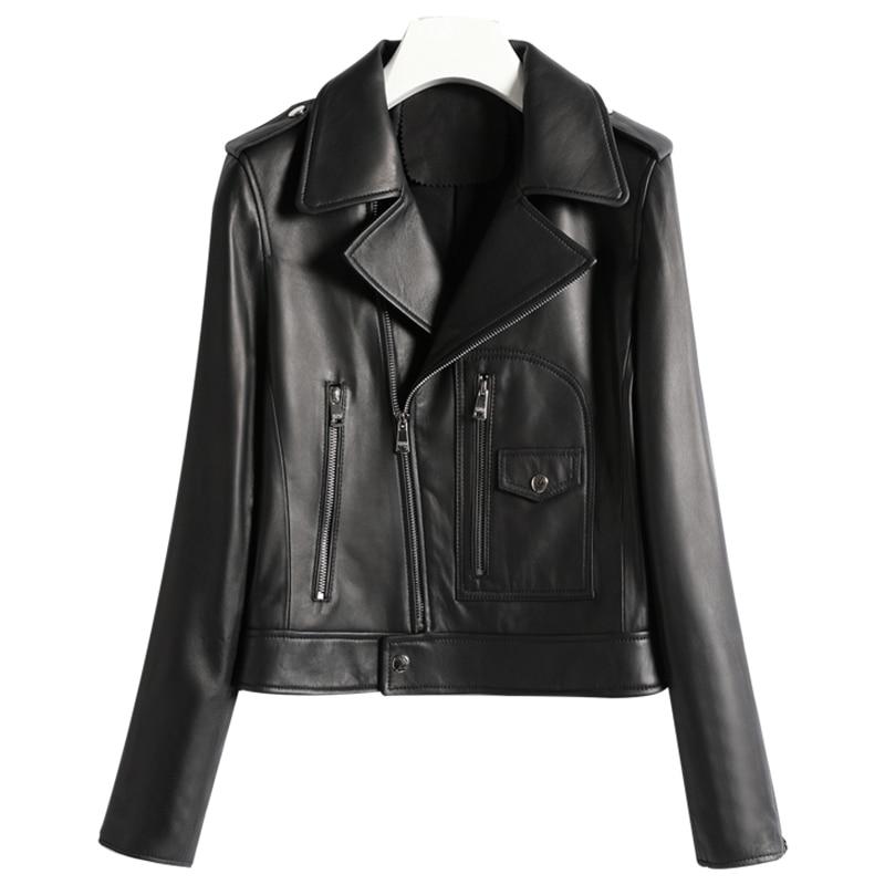 Fashion Chaqueta Mujer Winter Autumn Genuine Leather Jacket Women 2019 Korean Streetwear Fit Real Leather Coat Women D009