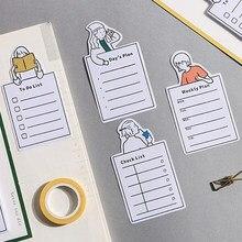 30 folhas bonito notas pegajosas para fazer a lista notas de memorando escola escritório diário planejador bloco de notas papelaria n times note pads