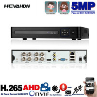 4 and 8 Channel CCTV DVR 5MP H.265 5MP Cloud Video Recorder For Surveillance Security CCTV IP AHD TVI Camera 4ch 8ch 5MP