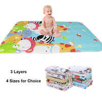 Nappy Urine Pad Sheet Mattress Changing Mat Bedding Baby Waterproof Reusable Infant Cartoon Cotton Diaper Cover