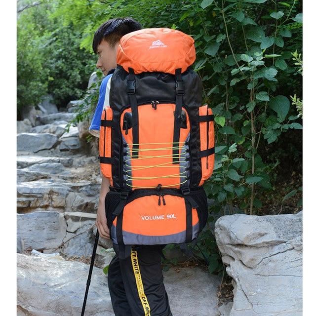 90L  Travel Bag Camping Backpack Hiking Army Large Capacity Sport Bag 5