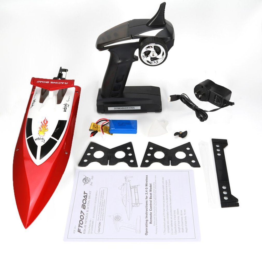 Feilun FT007 2.4G 4CH Water Cooling RC Racing Boat 20km/h Super Speed Electric RC Boat Toy Remote Control Boats