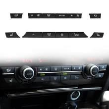VODOOL 12 unids/set del tablero de instrumentos del coche A/C aire acondicionado interruptor de Control Tecla de botón tapas Kit para BMW serie 7 F07 GT/F10/F11 F01/F02