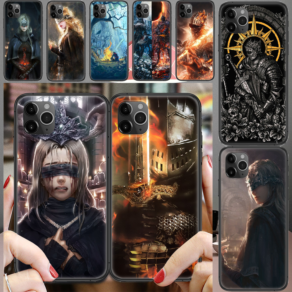 Dark Souls Game Phone Case Cover Hull For iphone 5 5s se 2 6 6s 7 8 12 mini plus X XS XR 11 PRO MAX black soft coque silicone