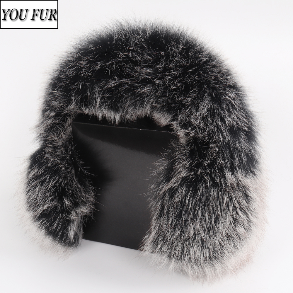 Women Fashion Russian Winter Real Fox Fur Earmuffs Full Pelt 100% Natural Fox Fur Ear Muffs Thermal Girl Fur Ear-cap Package