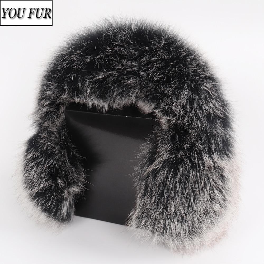 Women Fashion Russian Winter Real Fox Fur Earmuffs Full Pelt 100% Natural Fox Fur Ear Muffs Thermal Girl Fur Ear-cap Package