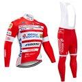 Зима 2020 команда ANDRONI тепловой флис Велоспорт Джерси велосипед брюки набор Мужские Ropa Ciclismo 20D велосипедный майон Culotte одежда