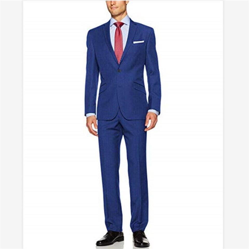 New Men's Suit Smolking Noivo Terno Slim Fit Easculino Evening Suits For Men  2 Button Suit Men 2 Piece Jacket Pants