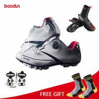 Boodun Atmungs Pro Radfahren Schuhe MTB Bike Fahrrad Self-Locking Schuhe Ultraleicht Athletischer Racing Turnschuhe Sapatos de ciclismo